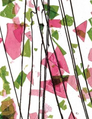 Spring Green and Deep Pink on Clear Clear Base Collage
