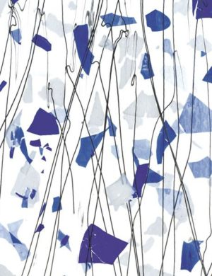 Blue and White on Clear Clear Base Collage