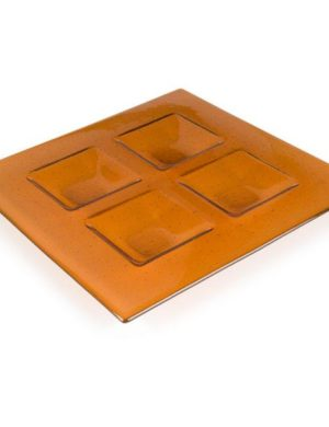 Soft Edge Four Square Platter, 14 x 14 x 1.25 in (355 x 355 x 31 mm), Slumping Mould