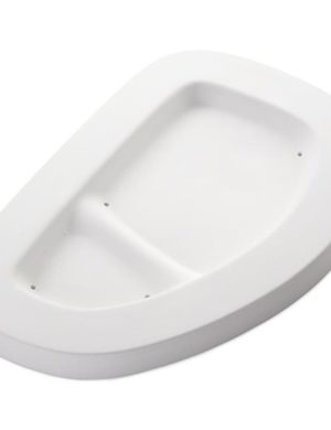 Snack Tray, 9.5 x 6.5 in (241 x 165 mm); rim, 1.187 in (30 mm), Slumping Mould