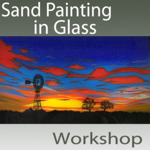Sand Painting in Glass