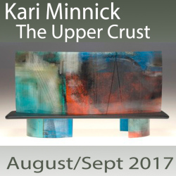 Kari Minnick: The Upper Crust, Magnificent surfaces and compelling layers in kilnformed glass